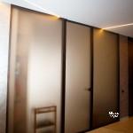 стеклянная профильная перегородка,стекло Bronze Matelux