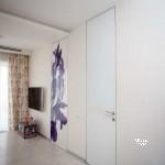 скрытые двери, заполнение окрашенное стекло, фотопечать