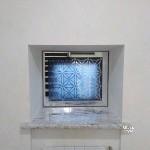 зеркальная створка с декором в скрытом профиле